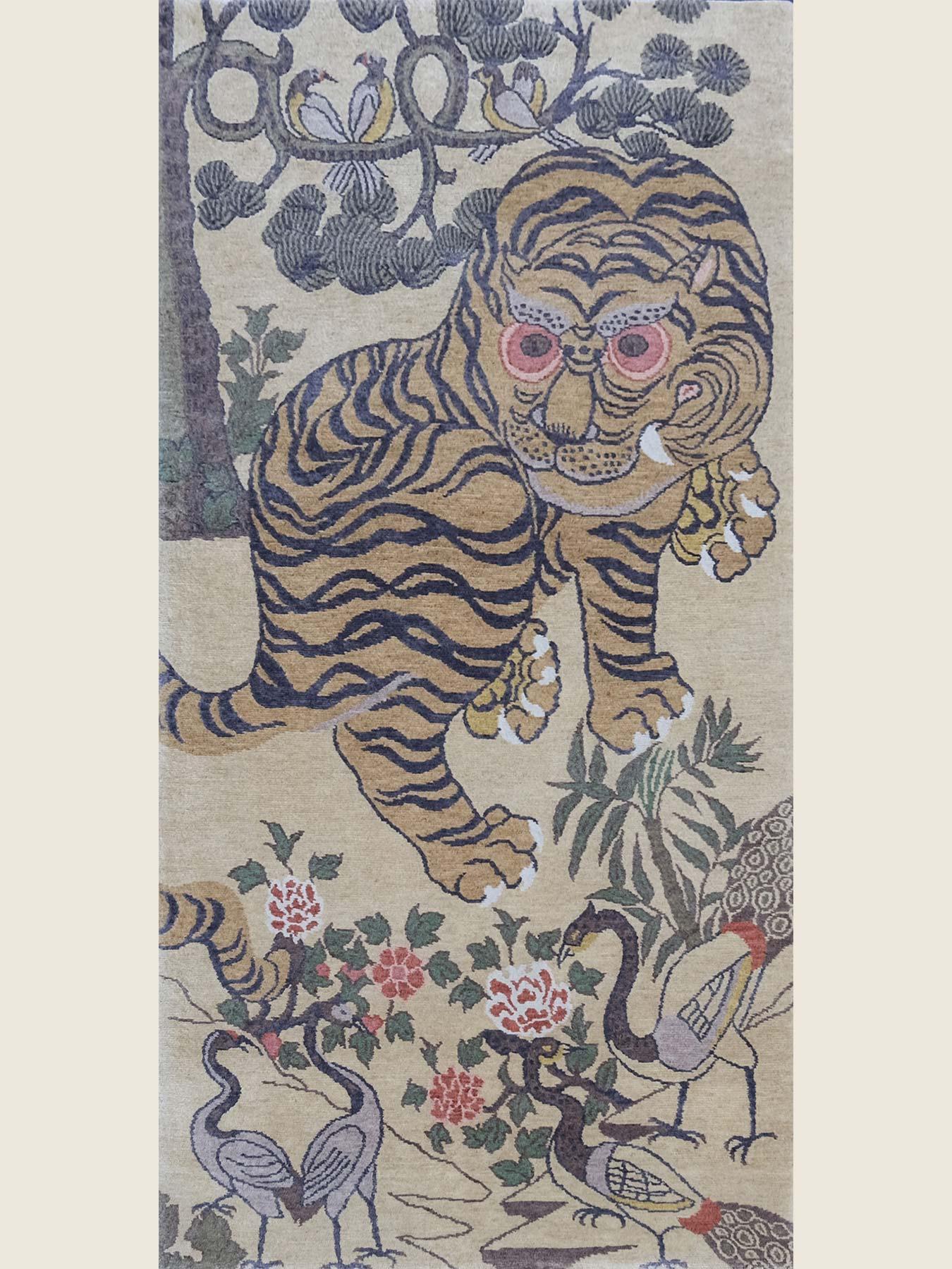 tiger roar in forest zt-41