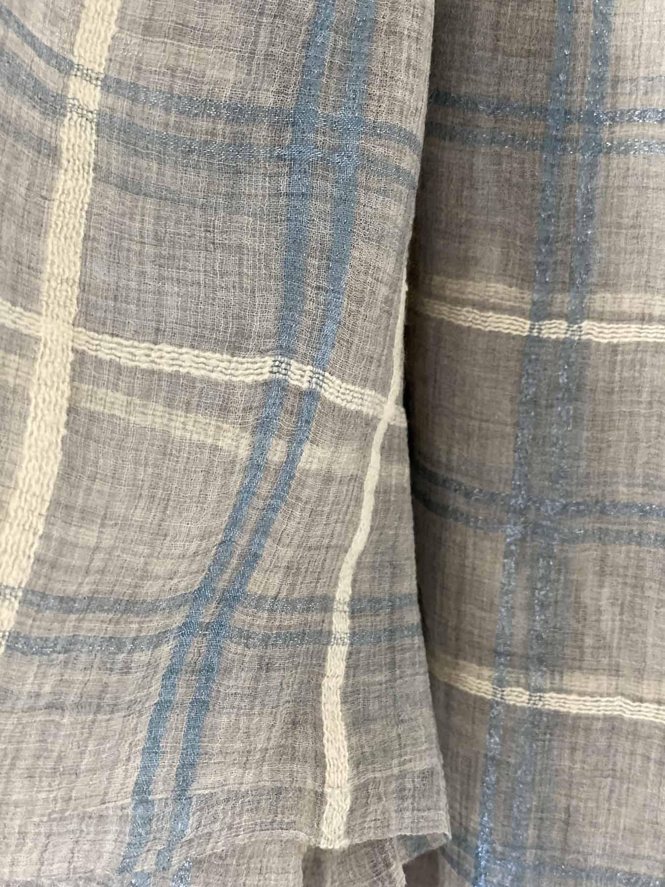 Blue Quad Cashmere Scarf 4