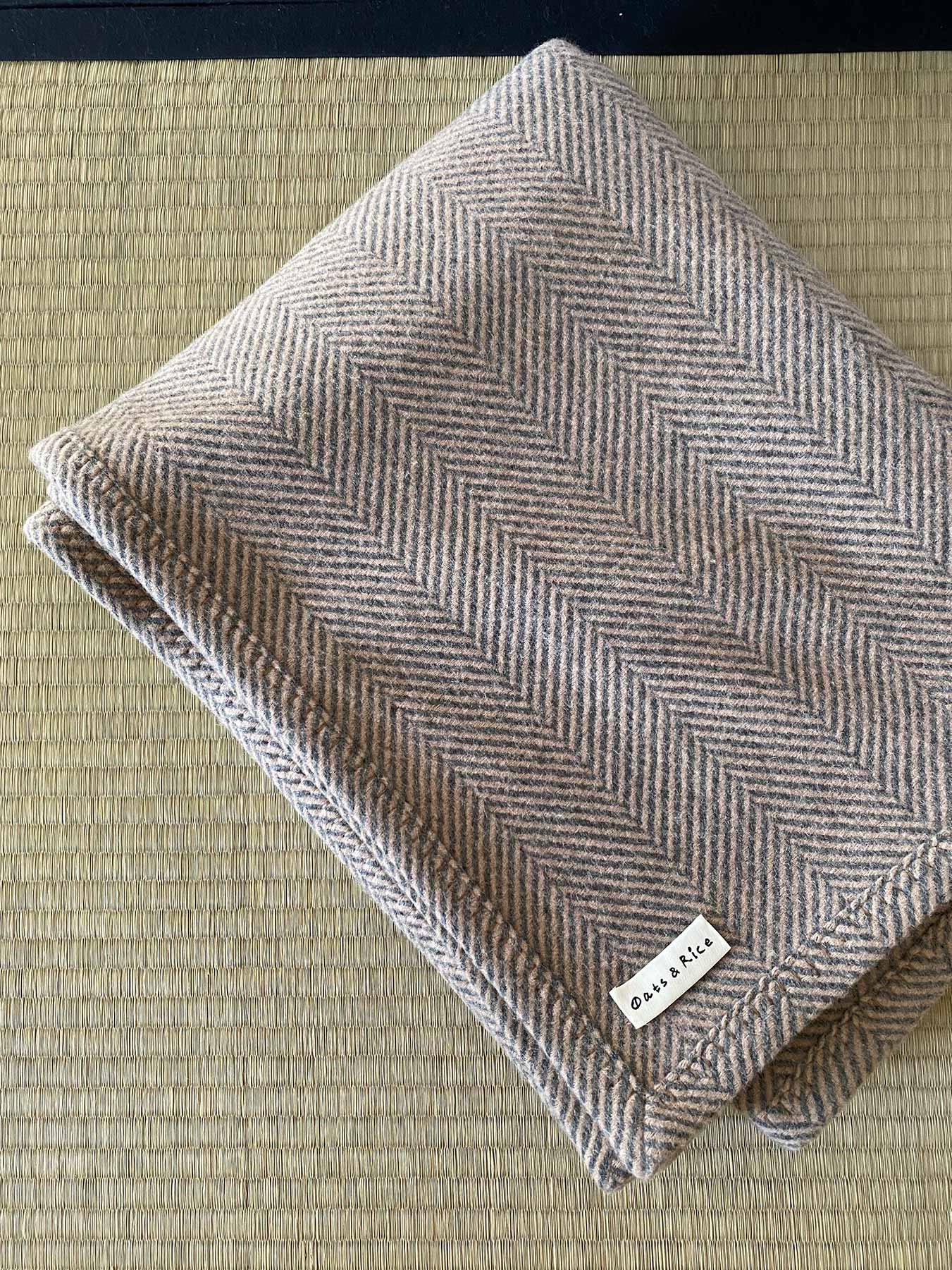 Cashmere Wool Throw Beige 1