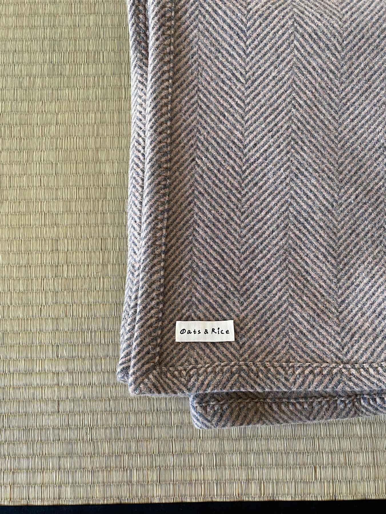 Cashmere Wool Throw Beige 2