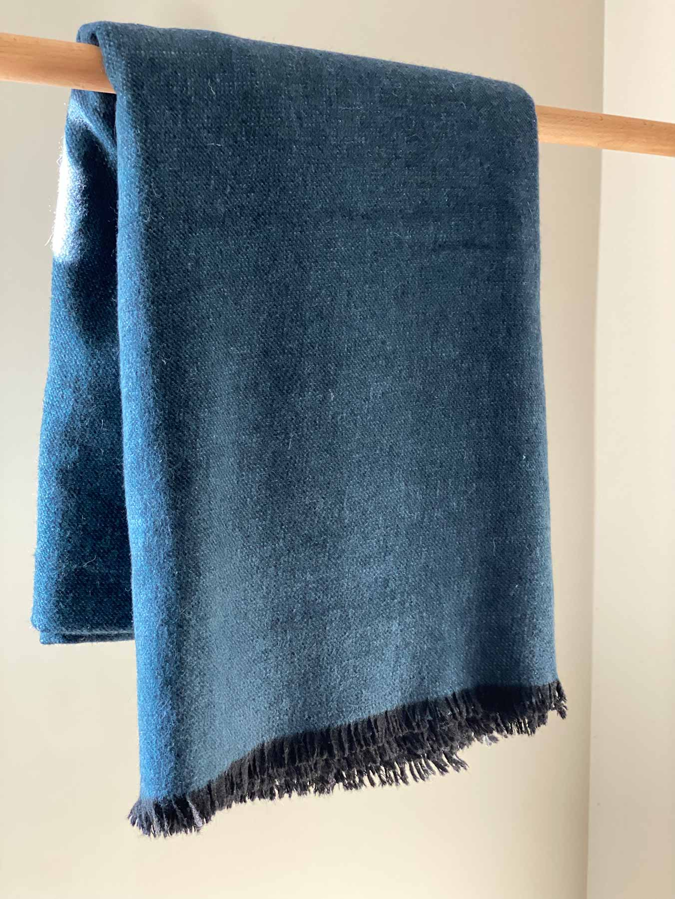 Cashmere Wool Throw Blue 2