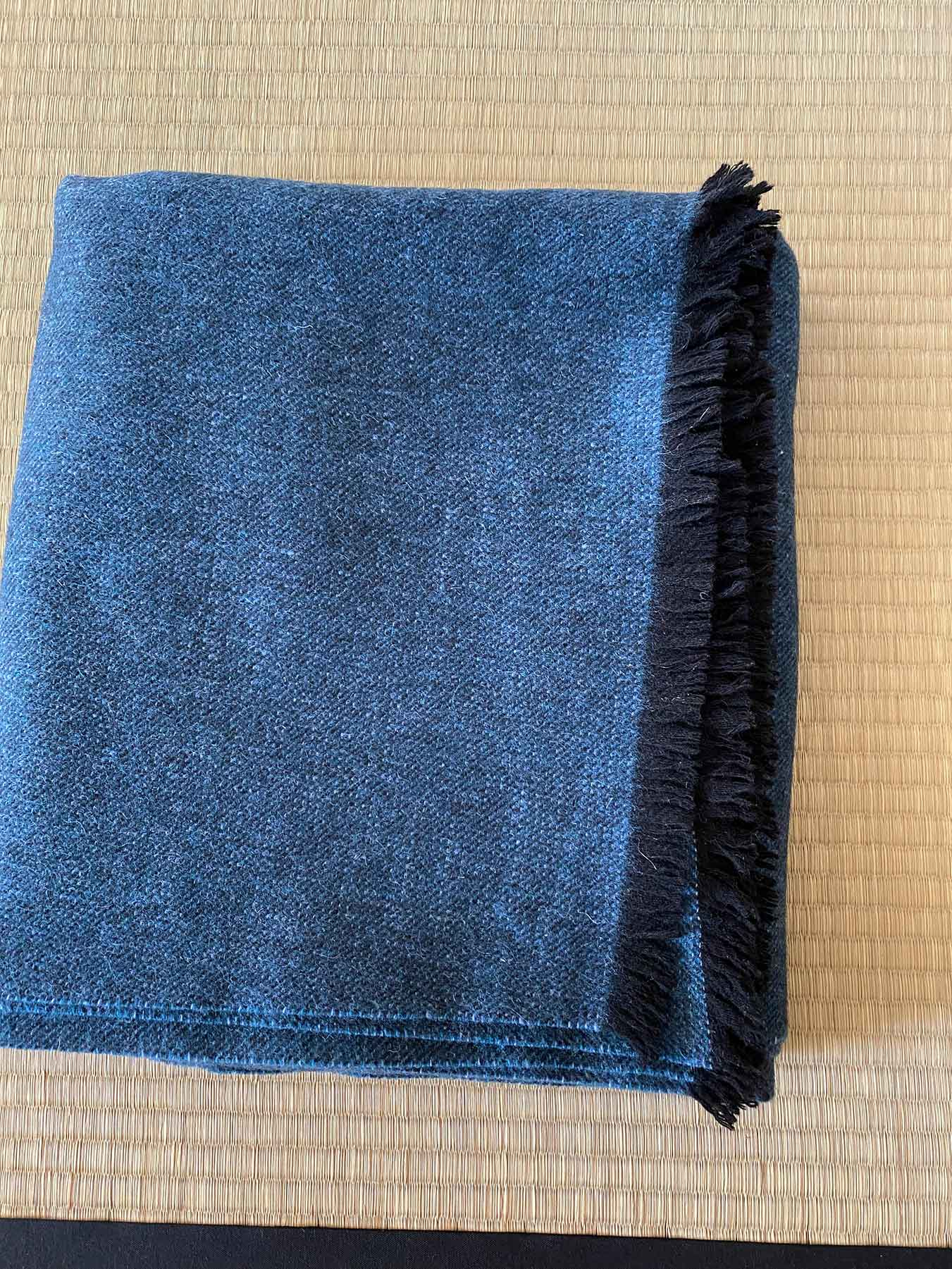 Cashmere Wool Throw Blue 3