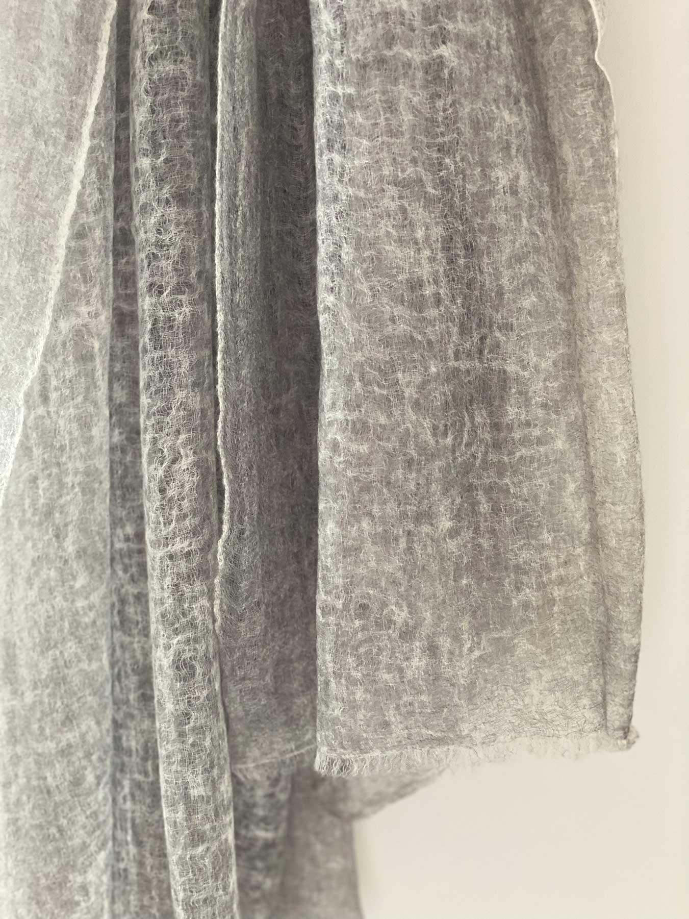 Wispy Cashmere Scarf Green Grey 8